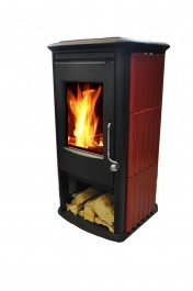 Lincar Samurai Log Burner with red sides