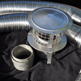 "Standard 7"" Flexible Flue Kit"