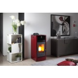 Lincar Lola Pellet Stove in Red 15kw